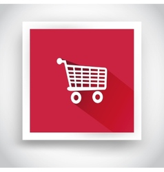 icon shopping cart for mobile applications vector image