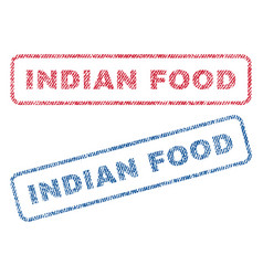 Indian food textile stamps vector