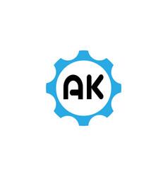 Initial letter logo ak template design vector
