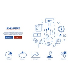 Investment website concept vector image