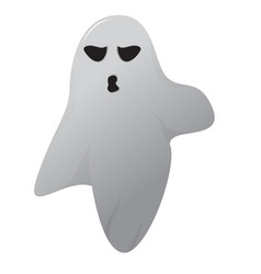 isolated halloween ghost vector image