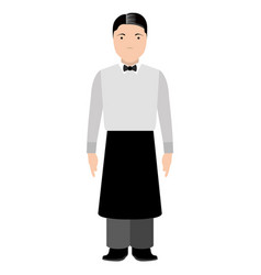 isolated waiter avatar vector image