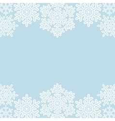 Lace snowflakes borders on blue vector