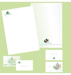 Letterheads and business cards vector