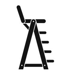 Lifeguard beach chair icon simple style vector