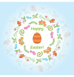 light blue background - happy easter vector image