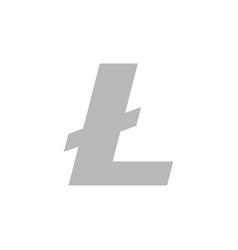 Litecoin coin symbol logo vector