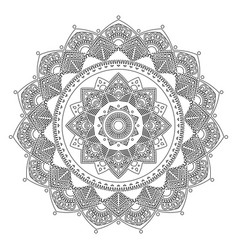 mandala indian antistress medallion abstract vector image