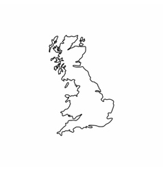 Map of Great Britain icon outline style vector
