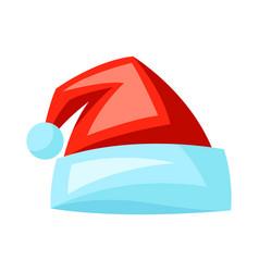 merry christmas santa hat holiday vector image