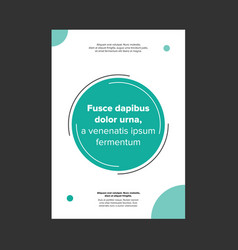 Minimalist style cover page or banner vector