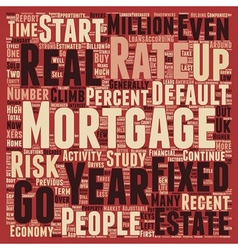 Mortgage Report Mortgage Rates Stable In 2006 text vector image