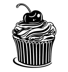 Muffin cupcake vector