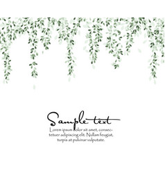 natural background with leaves vector image