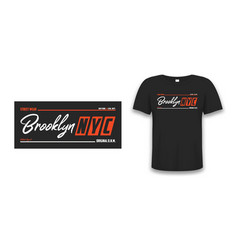 Nyc brooklyn athletic design for t-shirt with tee vector