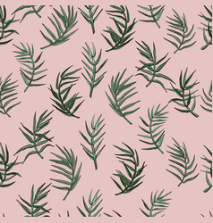 palm leaves seamless background vector image