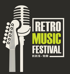 Poster for retro music festival vector