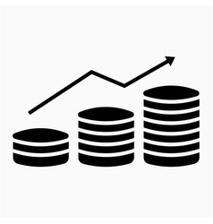 Profit icon vector
