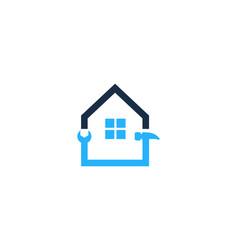 repair house logo icon design vector image
