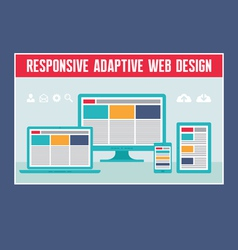 Responsive Adaptive Web Design vector