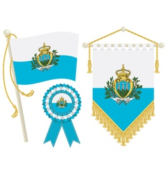 san marino flags vector image