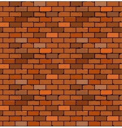 seamless pattern of red brick with cracks vector image