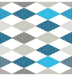 Seamless pattern with rhombuses tribal vector