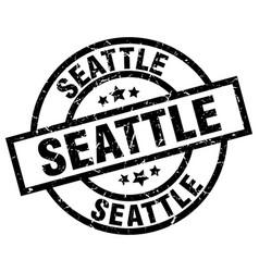 Seattle black round grunge stamp vector