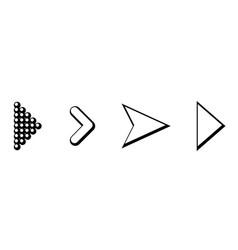 set of black arrows arrow icon arrow icon arrow vector image