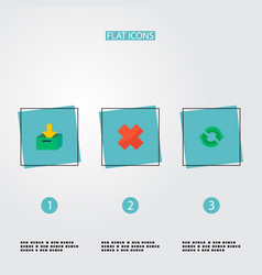 Set of project icons flat style symbols with vector