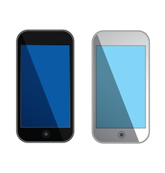 Smartphones with blue screens - isolated vector