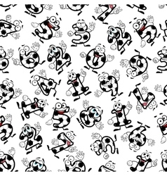 Soccer or football numbers pattern vector