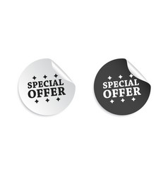 special offer sticker business sale tag label on vector image