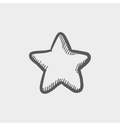 Star or best choice sketch icon vector image