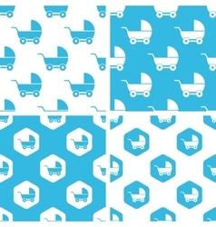 Stroller patterns set vector