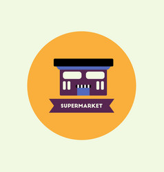 Stylish icon in color circle building supermarket vector