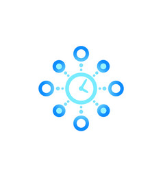 Time management planning icon vector