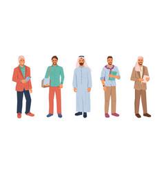 Uae citizens modern muslim businessman isolated vector