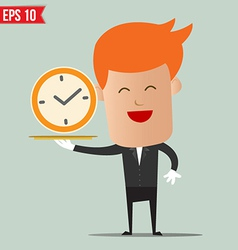 Waiter serving time - - EPS10 vector