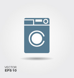 Washing machine icon home appliances symbol flat vector
