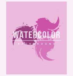 watercolor background with brush strokes stains vector image