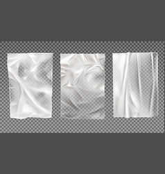White wet paper bad glued wheatpaste set isolated vector