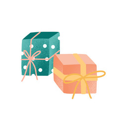 wrapped presents flat gift vector image