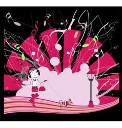 Dancing girl eps10 vector image