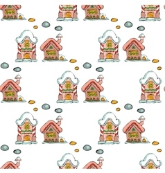 Fairy houses isolated on white background Merry vector image vector image