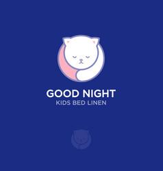 good night logo vector image