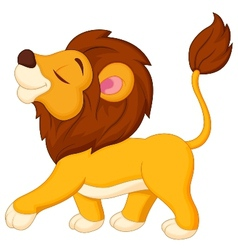 Lion cartoon walking vector image