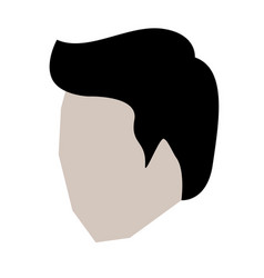 man head faceless with short hair in white vector image
