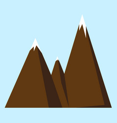 mountain icon or logotype vector image