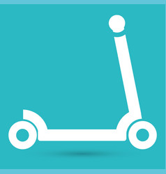 scooter for children icon vector image